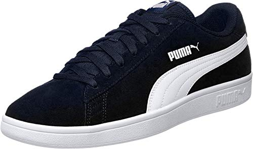 Puma Puma Smash v2, Sneakers Basses mixte adulte - Bleu (Peacoat-Puma White), 42 EU