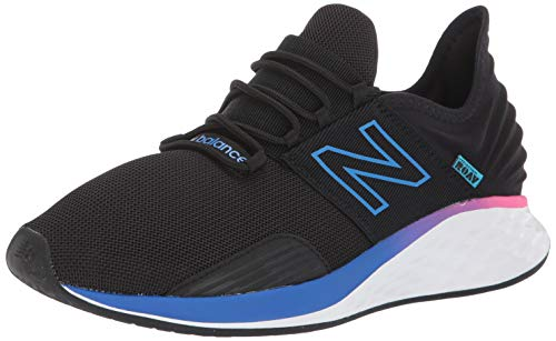 New Balance Men's Fresh Foam Roav V1 Sneaker, Black/Vivid Cobalt, 11 M US