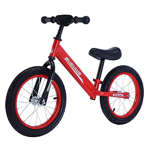 GASLIKE Bicicleta de Equilibrio para niños, Bicicleta de Entrenamiento sin Pedales de 14
