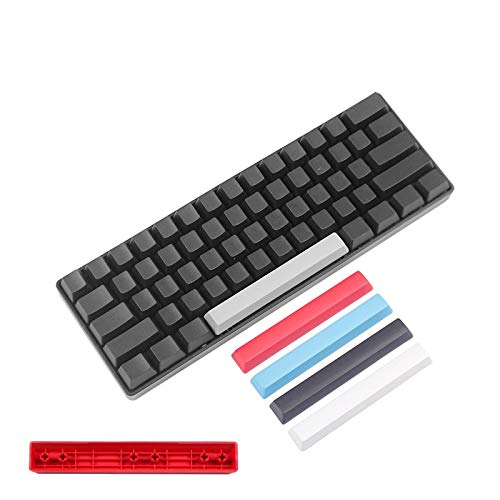 YEZIO Keycaps für Keyboards Mechanische Tastatur Schalter PBT Spacebar Rot Schwarz Filco Ducky 8 6.25u Space Bar Keycap Universal (Color : Kit 2)