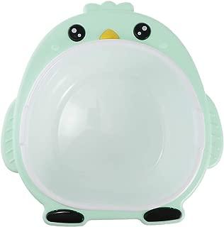CUTICATE Kinder Pinguin Waschbecken Waschsch/üssel f/ür Baby Gesicht H/ände waschen Gr/ün