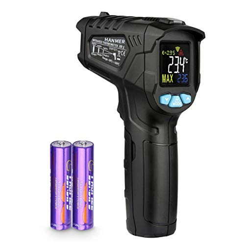 AICase Infrared Thermometer, Digital Laser Thermometer Non-Contact Temperature Gun -58°F ~716°F (-50°C ~380°C)