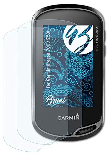 Bruni Schutzfolie kompatibel mit Garmin Oregon 700 / 750t Folie, glasklare Bildschirmschutzfolie (2X)