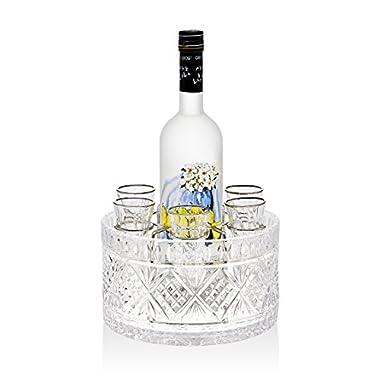 Godinger Silver Art Dublin 8-piece Drink Vodka 1.5 Oz. Shot Glasses Shooters Liquor Set
