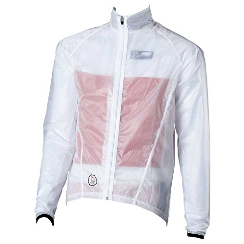 prolog cycling wear Fahrrad Regenjacke transparent,extrem dünn und leicht, Enger, körpernaher Schnitt,elastisch, wasserdicht, atmungsaktiv, Unisex-Schnitt für Damen, Herren, Kinder geeignet