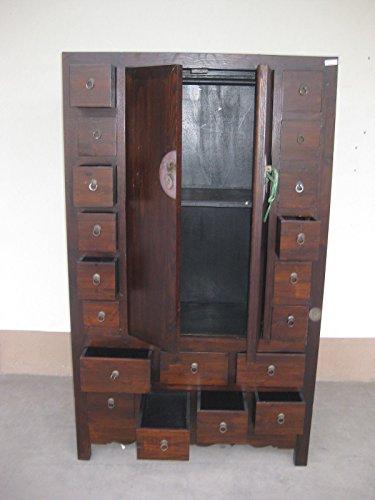 Antiker Apothekerschrank Aktenschrank Büroschrank Apotheke Schrank Sideboard Kommode Kommodenschrank Sideboardschrank mit 19 Schubladen Breite110xHöhe190cm