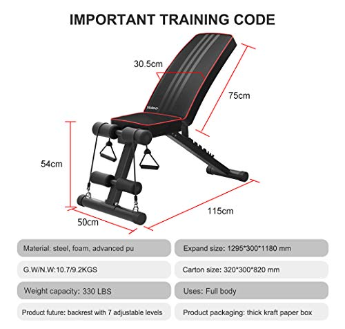 Yoleo Adjustable Weight Bench