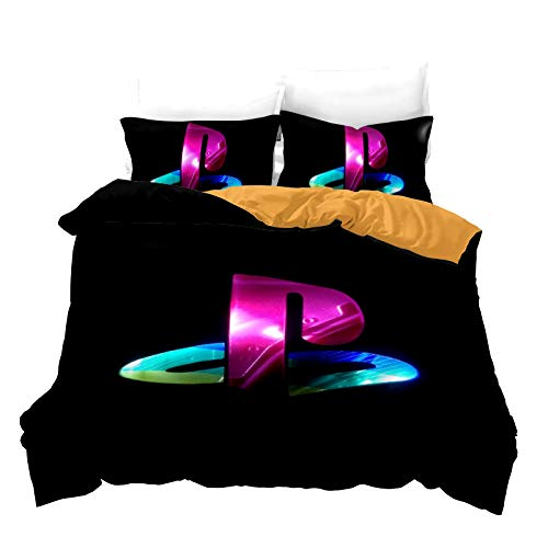 XWXBB Juego de ropa de cama PS4, ropa de cama juvenil, funda nórdica suave y sedosa, con cremallera, adecuada para adultos y niños (A01, doble 200 x 200 cm)