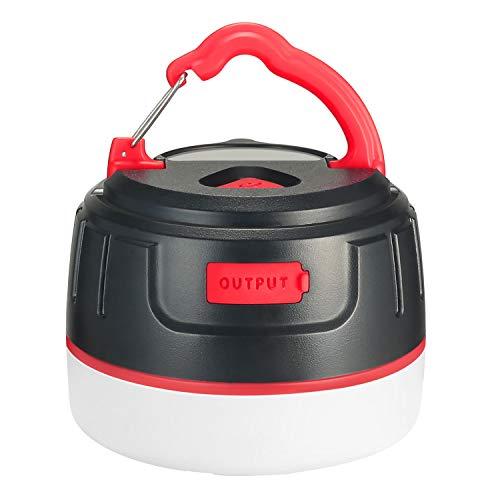 BRISIE LEDランタン 暖色 電球色 USB充電式 モバイルバッテリー IP65 防水&防塵 5つ調光モード マグネット...