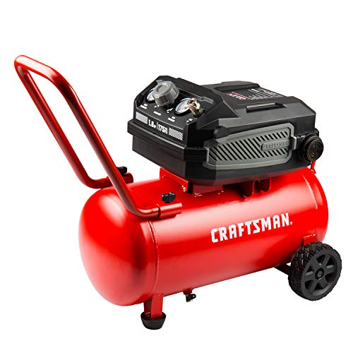 Craftsman Air Compressor, 10 Gallon 1.8 HP Max 175 PSI Pressure, Powerful and Portable Oil Free Maintenance Free Compressor for Home, Garage, Workshop, Model: CMXECXA0201041