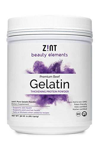 Zint Beef Gelatin Powder (32 Ounce): Unflavored, Keto-Certified,...
