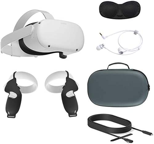 2020 Oculus Quest 2 All in One VR Headset 64GB SSD Glasses Compitble 3D Audio Mytrix Carrying product image