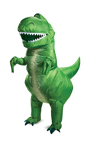 Disguise unisex adults Disney Pixar Rex Inflatable Toy Story 4 Adult Sized Costumes, Green, One Size Adult US
