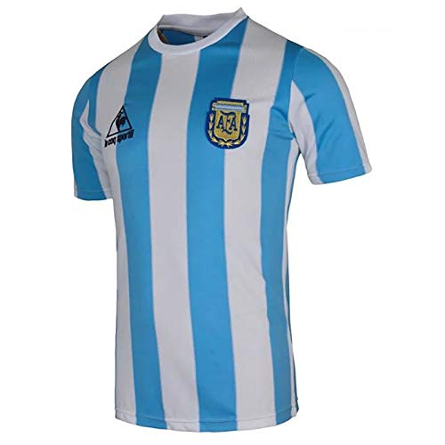 ZWJUK Camiseta de fútbol de Maradona, Camiseta Retro de Argentina 78/06/1986 (para Siempre el Rey de la Pelota)-XL(180-185cm)-86