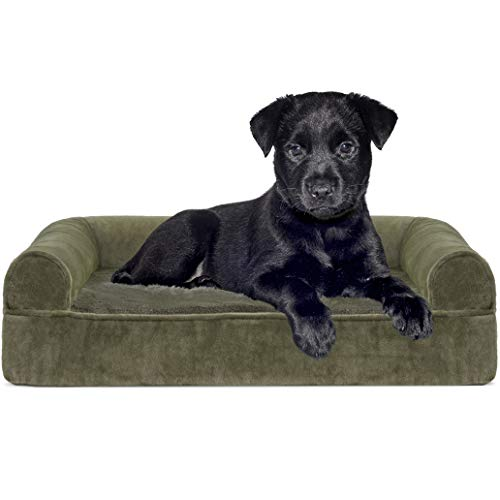 FurHaven Pet Dog Bed | Orthopedic Sofa-Style Couch Pet Bed