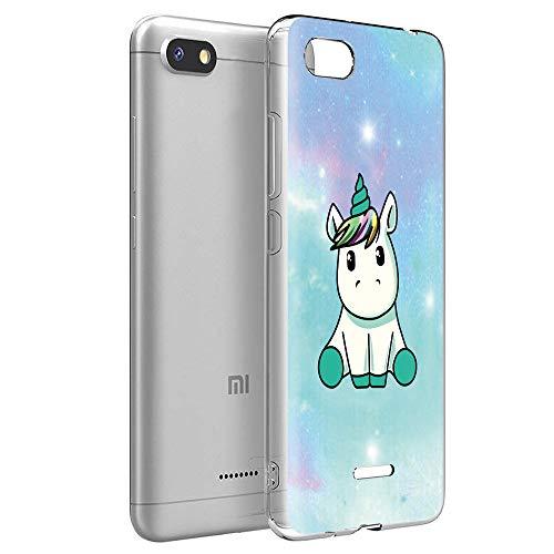 Yoedge Cover Xiaomi Redmi 6A, Sottile Antiurto Custodia Trasparente con Disegni Ultra Slim Protective Case 360 Bumper in TPU Silicone per Xiaomi Redmi 6A (Unicorno)