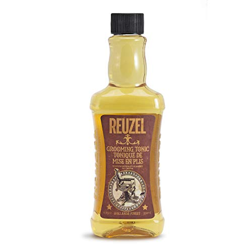 Reuzel - Grooming Tonic For Men - Low Shine - Water Based - Adds Volume w/o Weighing Hair Down - Protects From Heat Damage - 11.83 oz / 350 ml, 852578006058