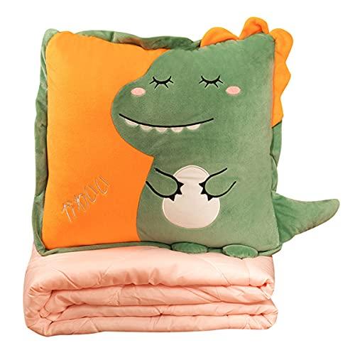 Dibujos animados vientre tocando almohada edredón verano aire acondicionado es de doble uso oficina siesta almohada coche almohada coche manta dos en uno