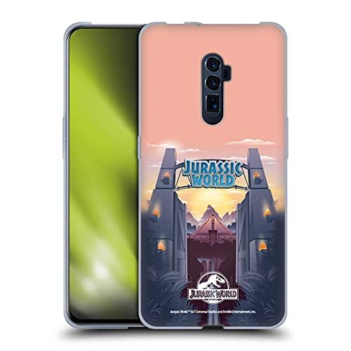 Head Case Designs Licenza Ufficiale Jurassic World Cancello del Parco Arte Vettore Cover in Morbido Gel Compatibile con Oppo Reno 10x Zoom