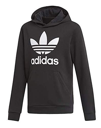 adidas, Trefoil Hoodie Unisex Bambini, Black/White, 14-15A