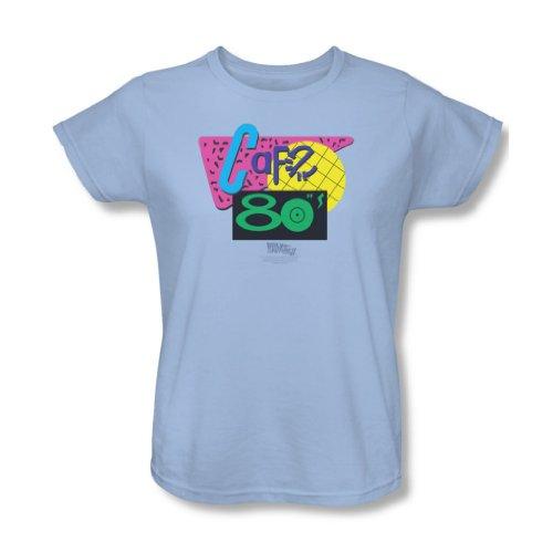 Back To The Future II - Retour vers le Futur II - 80 de café de T-shirt bleu clair, Large, Light Blue