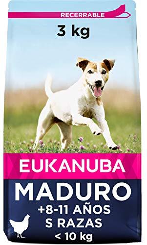 Eukanuba Comida seca para perros mayores de razas pequeñas con pollo 3 kg