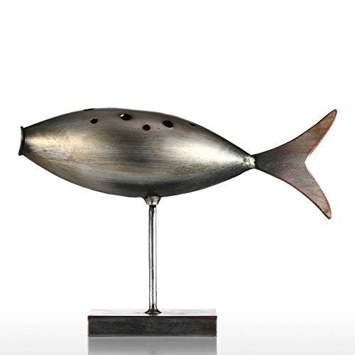 FYMIJJ Escultura,Tooarts Submarine Fish Figurine 3 Style Figurita de Metal Poste Escultura Moderna Arte Fish Craft Regalo Accesorios de decoración del hogar, 1