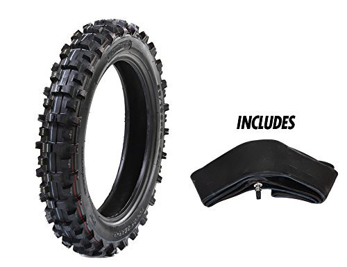"Protrax PT1059 Rear Tiretough Gear Offroad Motocross 90/100-16 Tire & Tube 3.50 X 16"" Combo Kit - Soft/Intermediate Terrain"