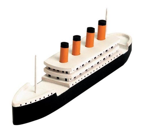 Darice Wood Model Kit, Titanic (1 Kit)  Contains Precut Wood and Instructions for 7.25x2 Model  All You Need is Glue, Sandpaper, Paint to Finish  Fun Activity for School, Camp, Scouts, Families