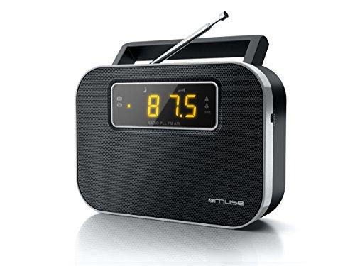 Muse M-081 RW draagbare 2-bands radio (PLL/UKW/MW-tuner) zwart