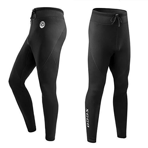 ZCCO Pantalones de Neopreno para Hombre, Pantalones Largos de Neopreno de 1,5 mm para Hacer Surf, Kayak, natación, Buceo, piragüismo (Negro, XL)
