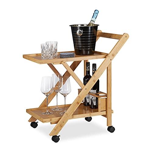 Relaxdays Küchenwagen Bambus Bild