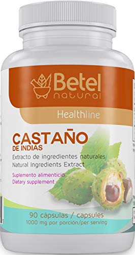 Castano de Indias para la Circulacion 1000 mg - Horse Chestnut 90 Caps - Betel Natural (Best Comedy Gujarati Natak List)