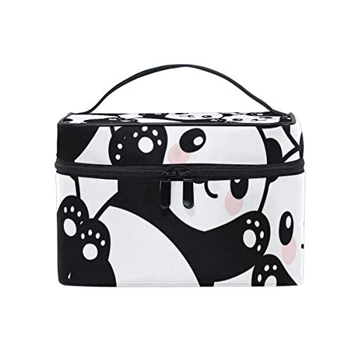 Vanity et Trousses à Maquillage Makeup Cosmetic Bag Cute Chinese Panda Baby Pattern Portable Travel Train Case Toiletry Bags Organizer Multifunction Storage Travel Daily Carry
