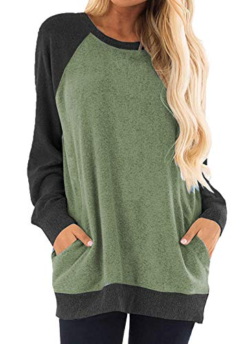 Winter Clothes for Women Cute Pullover Tunic Sweater Boutique Tops Shirts Olive XL