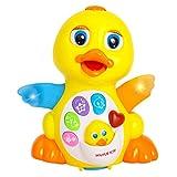 nbvmngjhjlkjlUK Swing Duck Goose Toddler Music Electric Toy Puzzle Puzzle correrá para Bailar Duck Juguetes educativos