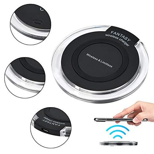 TPulling Fast Wireless Charger induzione senza fili per Samsung Galaxy Note 9/iPhone 8/iPhone 8Plus/iPhone X E TUTTI GLI ALTRI DISPOSITIVI Portable Qi Wireless Power