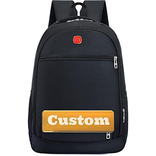 Mochila de Nombre Personalizada para 15.6 Bolsa de portátiles a Prueba de Agua Mochila de Moda (Color : Black, Size : One Size)