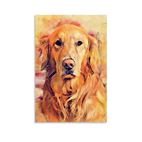 diannao Póster decorativo de perro Lula para pared, lienzo para sala de estar, dormitorio, 30 x 45 cm