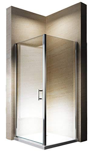 Bernstein Badshop Duschkabine Eckdusche 8 mm Nano Hebe-Senk-Mechanismus ESG-Glas Duschwand EX416-100 x 100 x 195 cm
