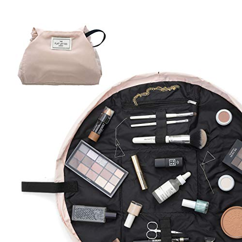 The Flat Lay Co. Make-up-Tasche, flach auslegbar, Reise-Kosmetiktasche, ohne Inhalt rosa Blush Pink 50 cm
