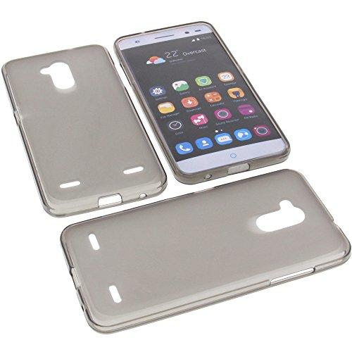 foto-kontor Tasche für ZTE Blade V7 Lite Gummi TPU Schutz Handytasche grau