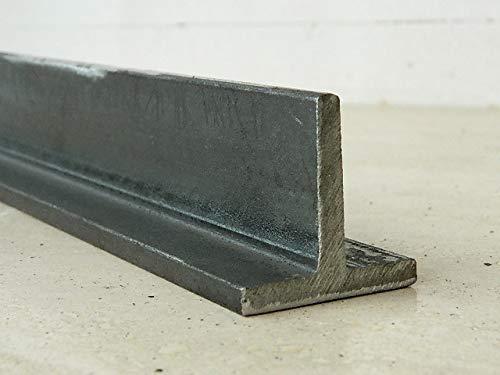 M.P. Metalli ferro liscio profilo a T grezzo 35x35 mm, spessore 5,5 mm, 2,25 mt / 2250 mm Made in Italy