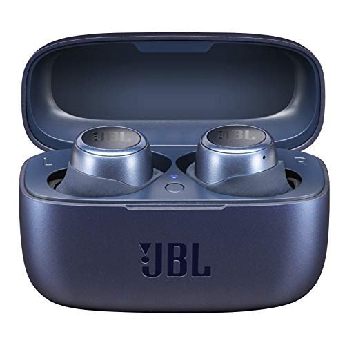 JBL LIVE 300TWS In-Ear Bluetooth Kopfhörer in Blau – True Wireless Ohrhörer mit Freisprecheinrichtung – Bis zu 6 Stunden Akkulaufzeit mit einer Ladung – Inkl. Ladecase