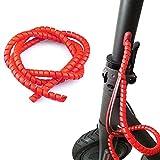 Vestigia® - Protección de Cable en Espiral para Xiaomi M365 1S Pro Scooter Eléctrico - Flexible Funda Organizador Cables - Cubre Cables de 1m (Rojo)