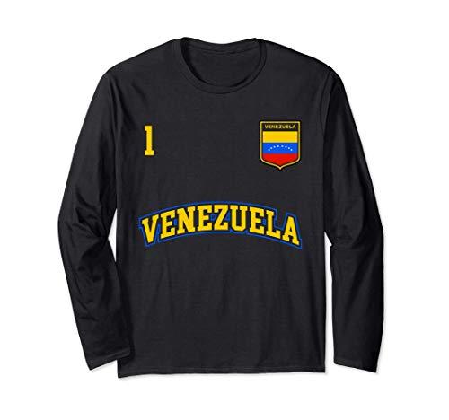 Squadra Calcio Venezuela Numero 1 Bandiera Venezuelano Maglia a Manica