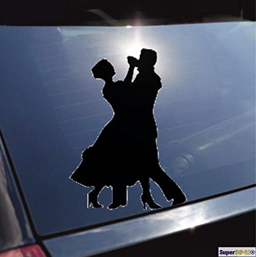 SUPERSTICKI Tanzen Samba Tango Aufkleber ca. 20 cm Autoaufkleber Tuningaufkleber Hochleistungsfolie für alle gl