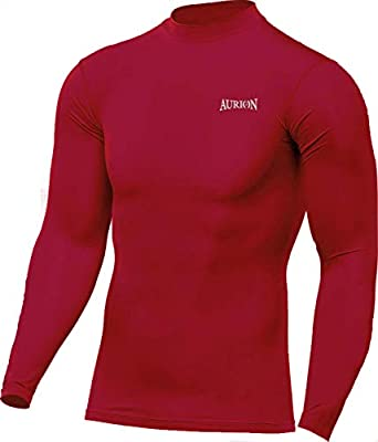 AURION Compression Top Full Sleeve Athletic Fit Multi Sports Cricket Cycling, Football Outdoor Inner Wear Compression Lycra Skin Inner Wear Full Sleeves