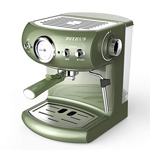 Kaffeemaschine Alt halbautomatische Kaffeemaschine Retro-Stil Espresso-Pumpe Typ Haushalt und kommerzielle Dampfart Milchschaum starker Dampf (Farbe: Grün, Stecker Typ: CN) Traditionelle Kaffeemaschin