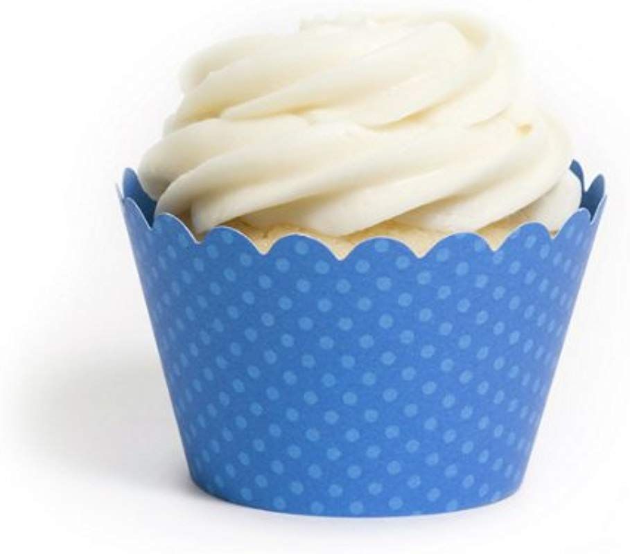 Dress My Cupcake Standard Royal Blue Cupcake Wrappers Set Of 12